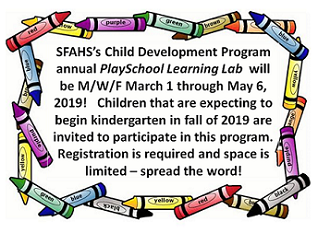 Crayon Boarder with SFAHS Learning Lab Registration Announcement