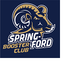 Spring-Ford Booster Club Ram Logo on Navy Blue Background