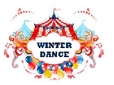 "Carnival Tents & Balloons with the words ""Winter Dance"""